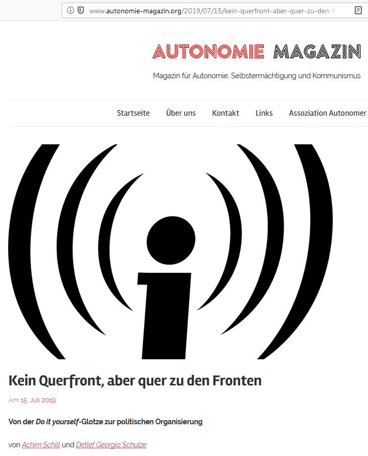 Autonomie Magazin vom 15.07.2019